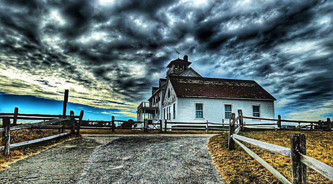 Coast Guard Station In Eastham Before The Storm On Cape Cod.