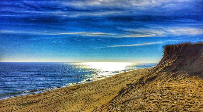 Early Morn At Lecount Hollow Beach In Wellfleet On Cape Cod.