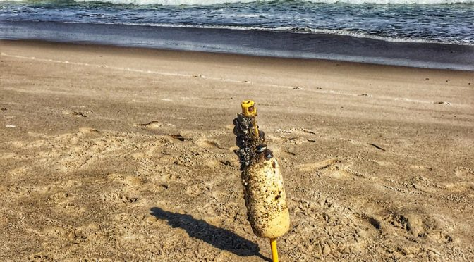 Interesting Buoy On Nauset Beach On Cape Cod.