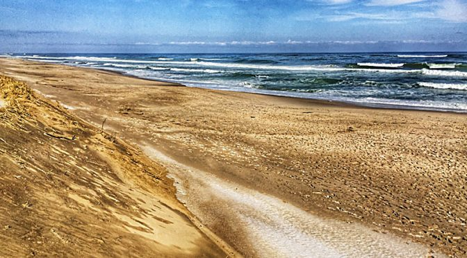 Nauset Beach On Cape Cod Between The Winter Storms.