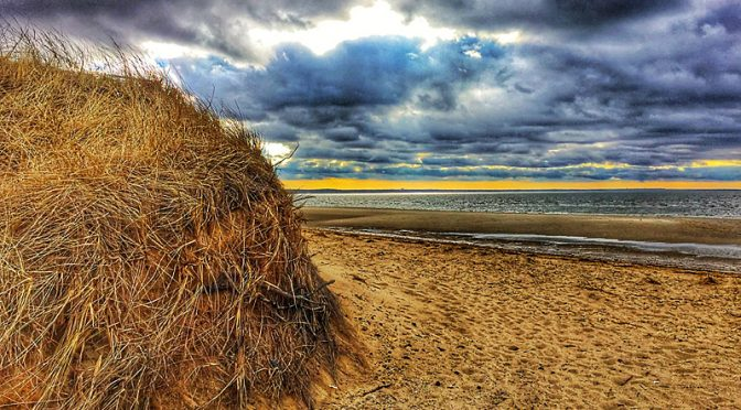 Ominous Clouds At First Encounter Beach On Cape Cod!