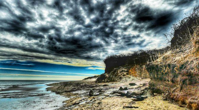 Storm Clouds At Coast Guard Beach On Cape Cod.