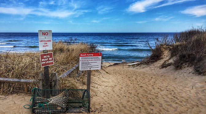 Two Perspectives At Coast Guard Beach On Cape Cod.