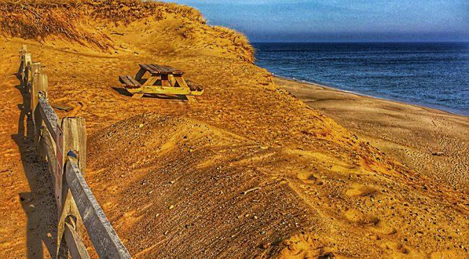 Lecount Hollow Beach In Wellfleet on Cape Cod.