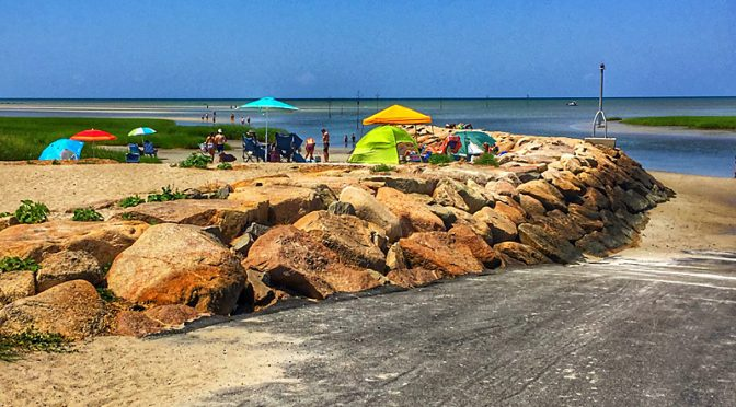 Enjoying A Summer Day At Rock Harbor On Cape Cod.