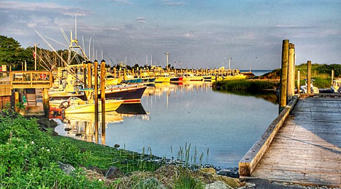 Beautiful Early Morning Reflection At Rock Harbor On Cape Cod.