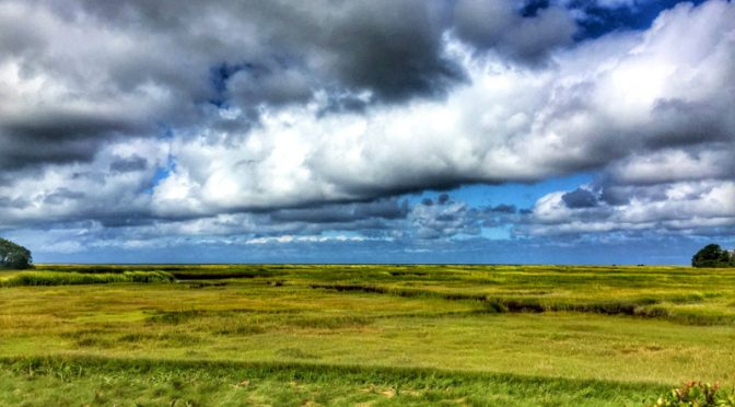 The Clouds Were Beautiful Over The Salt Marsh On Cape Cod!