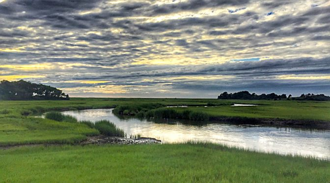 Storm Coming In Over The Salt Marsh On Cape Cod.