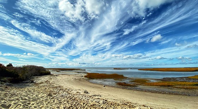 Amazing Clouds At Boat Meadow Beach On Cape Cod.