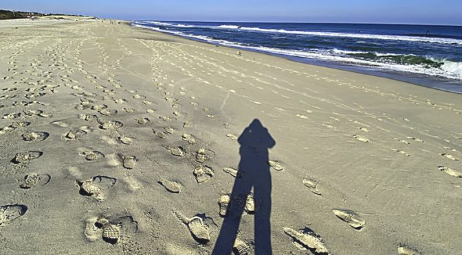 Cool Shadow At Nauset Beach On Cape Cod.
