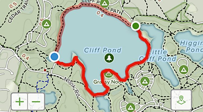 Another Awesome Feature On The AllTrails App For Cape Cod Or Anywhere.