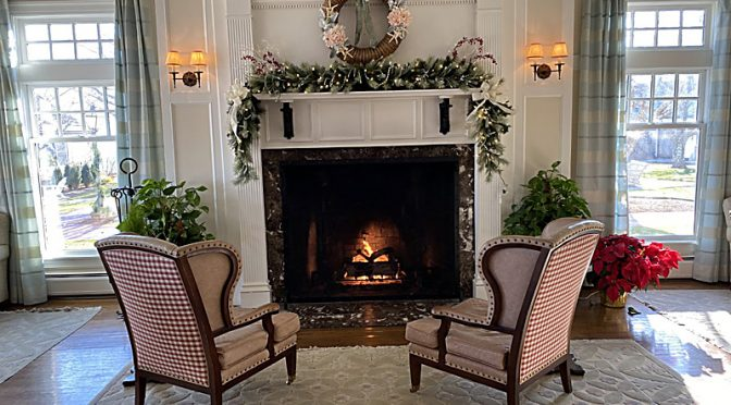 Beautiful Christmas Decorations At The Chatham Bars Inn On Cape Cod.