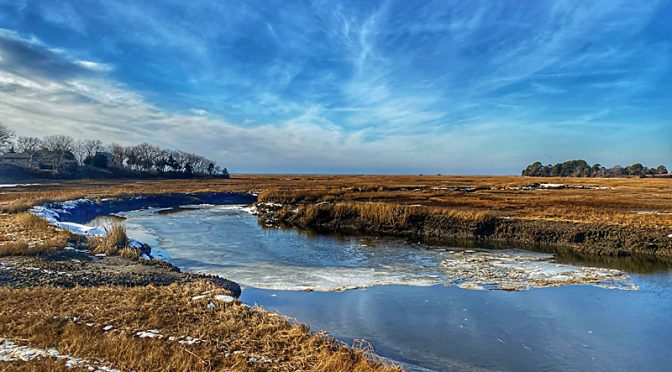 Icy Salt Marsh On Cape Cod… Two Views.