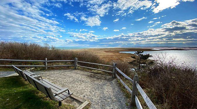 Nauset Marsh Overlook From Coast Guard Beach On Cape Cod.