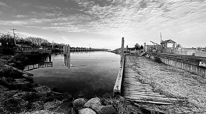Rock Harbor On Cape Cod In Black And White.