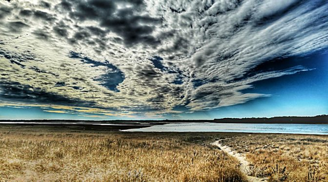 Gorgeous Clouds Over Nauset Marsh On Cape Cod.