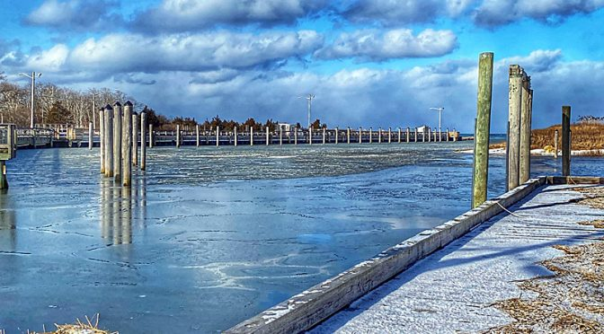 Pretty Chilly View Of Rock Harbor On Cape Cod.