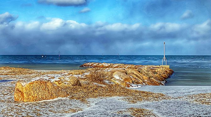 Snow Squalls Yesterday At Rock Harbor On Cape Cod.