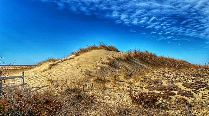 Windblown Sand Dunes At First Encounter Beach on Cape Cod… Two Perspectives!