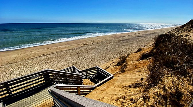 The Marconi Beach Stairs In Wellfleet On Cape Cod Made It Through The Winter!