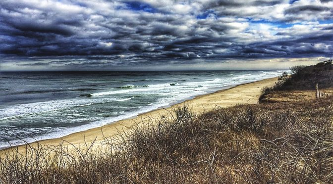 Nauset Light Beach Waves On Cape Cod.