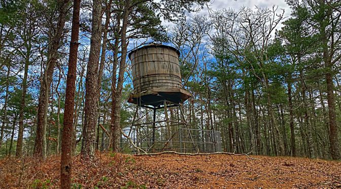 Old Water Tower At Nickerson State Park On Cape Cod.
