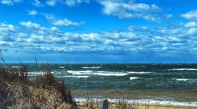Windy Day At First Encounter Beach On Cape Cod.