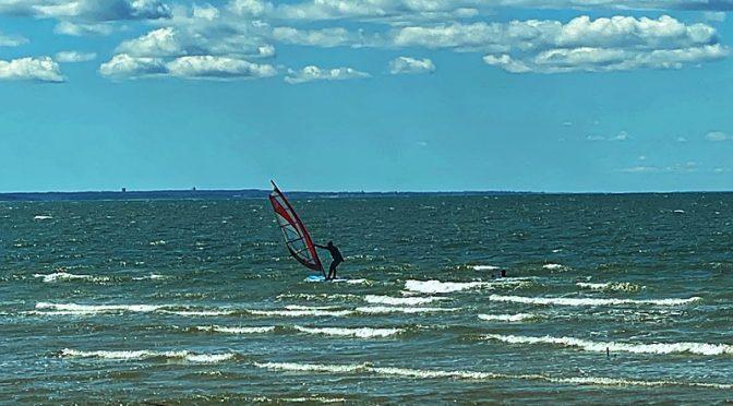 Windsurfers On Cape Cod Bay!