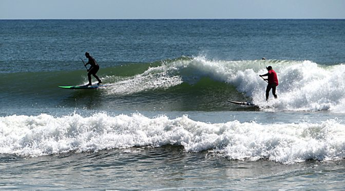 Great Paddle-Surfing On Cape Cod!
