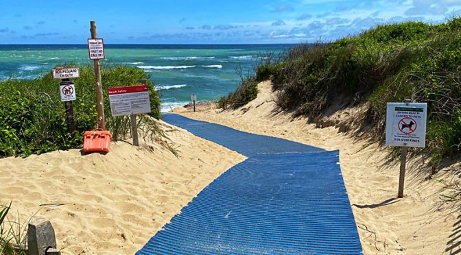 The Handicapped Mat At Coast Guard Beach On Cape Cod Beach Is Ready.