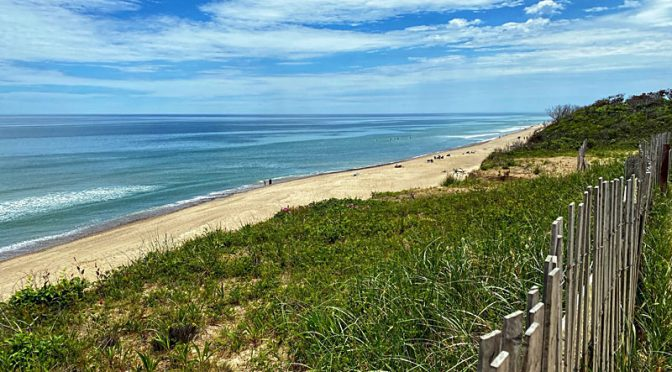 Nauset Light Beach On Cape Cod From The Overlook.