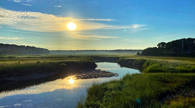 Another Beautiful Sunrise Over The Salt Marsh On Cape Cod.