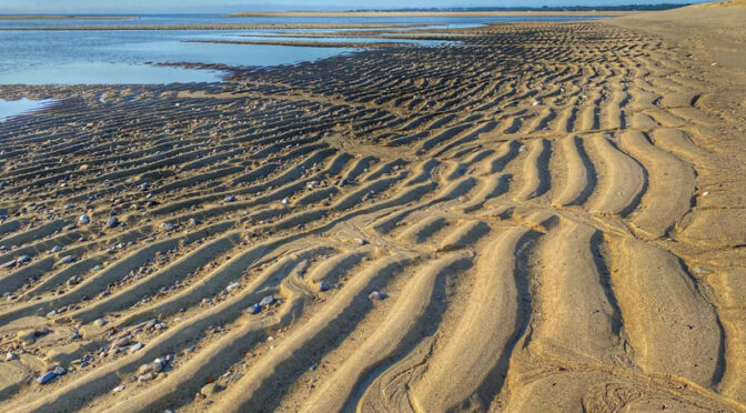 Rippling Sands On Coast Guard Beach On Cape Cod.