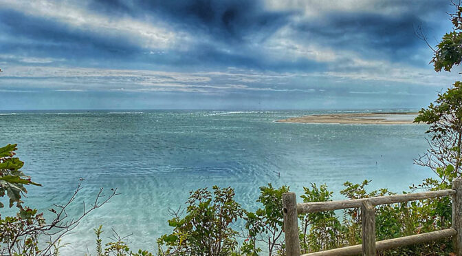 Looking Out Toward Monomoy Island In Chatham On Cape Cod.