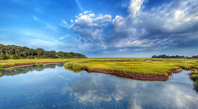 Gorgeous Clouds Over The Salt Marsh On Cape Cod!