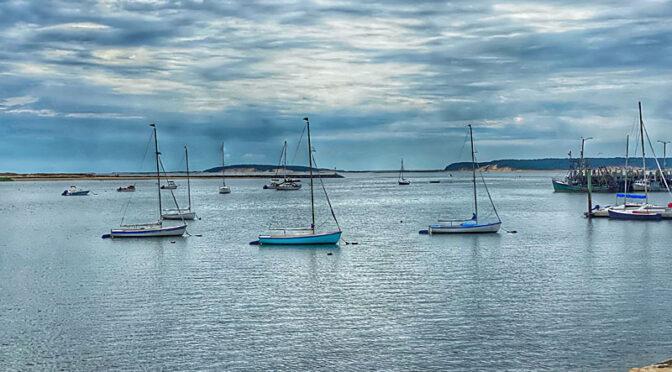 Wellfleet Harbor On Cape Cod.