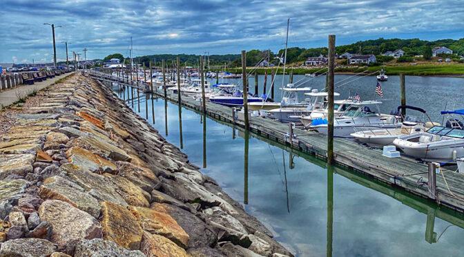 Wellfleet Docks On Cape Cod.