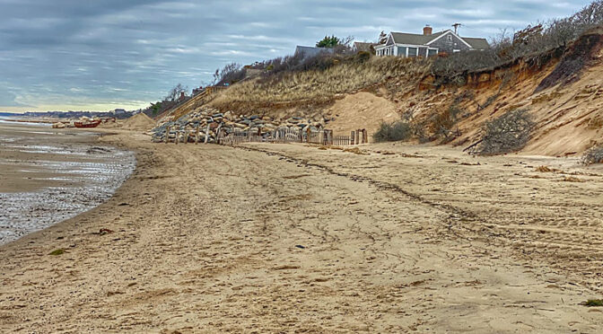 Lots Of Erosion At First Encounter Beach On Cape Cod Bay.