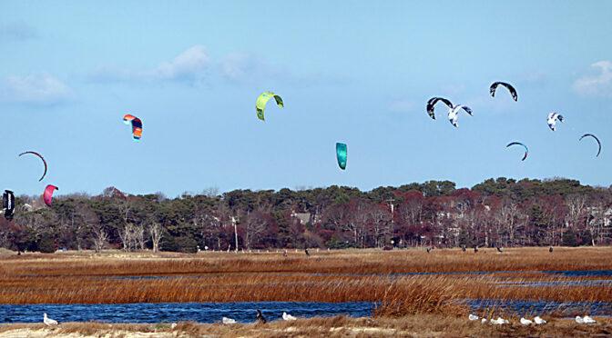 So Many Kite Surfers On Cape Cod Bay.