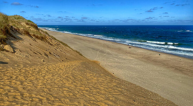 White Crest Beach In Wellfleet On Cape Cod.