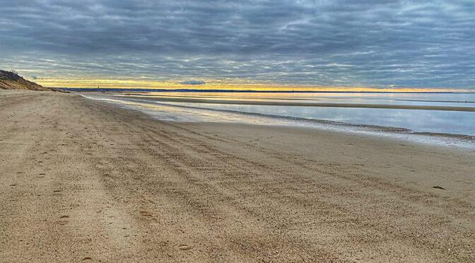 Pretty Horizon At First Encounter Beach On Cape Cod.