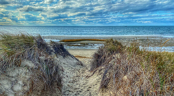 Beautiful Skies At First Encounter Beach On Cape Cod.