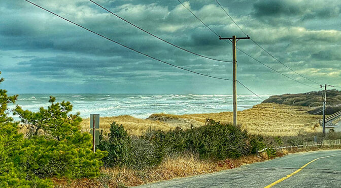 Stormy Day At Coast Guard Beach On Cape Cod.