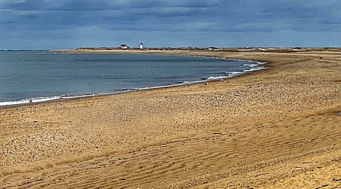 Looking Out At Race Point In Provincetown On Cape Cod.