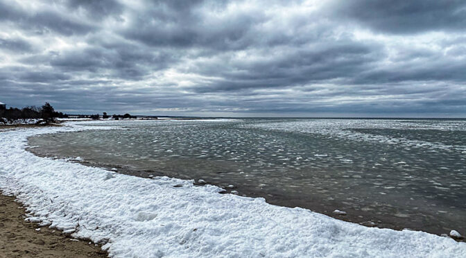 Snow And Ice At Boat Meadow Beach On Cape Cod!