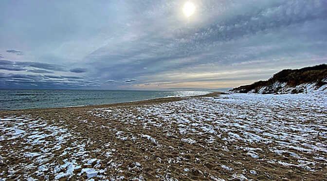 Winter Morning On Coast Guard Beach On Cape Cod.