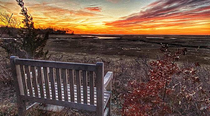 Gorgeous Sunset Over The Salt Marsh On Cape Cod!