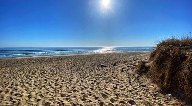 Morning Solitude On Coast Guard Beach On Cape Cod.
