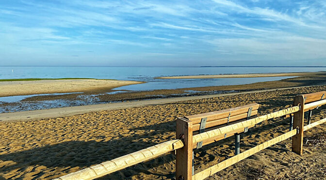 Early Morn At First Encounter Beach On Cape Cod.