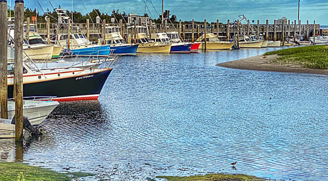 The Boats Are Ready And Waiting At Rock Harbor On Cape Cod.
